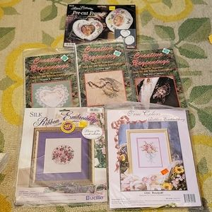 6 piece ribbon embroidery